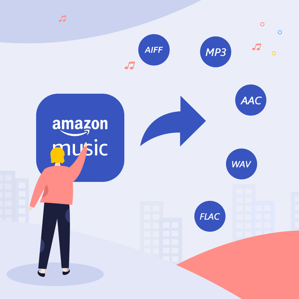 Amazon Music als MP3/AAC/WAV/FLAC speichern